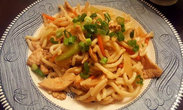 Stir-fried Chicken & Udon Noodles Recipe