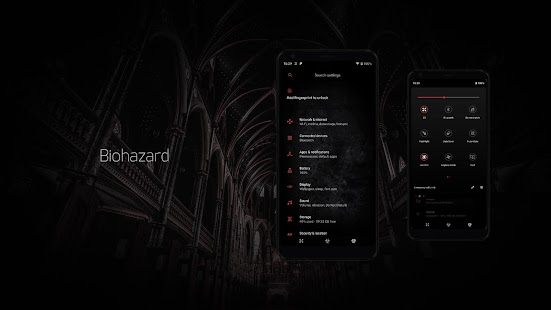 Biohazard Substratum Theme Screenshot