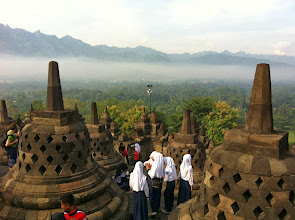 Photo: Borobudur.  Yogyakarta, Indonesia.  Enero 2014.