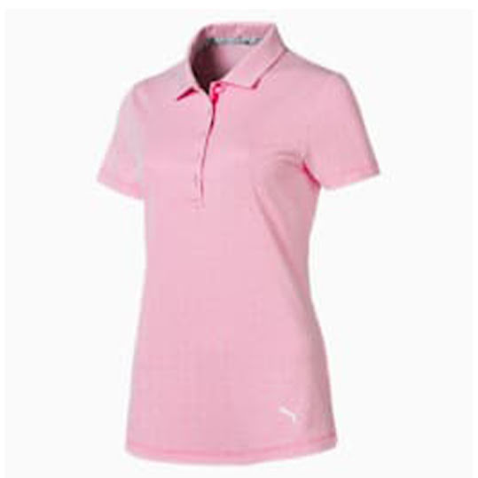 PUMA WOMEN'S SUPER SOFT POLO - PALE PINK HEATHER