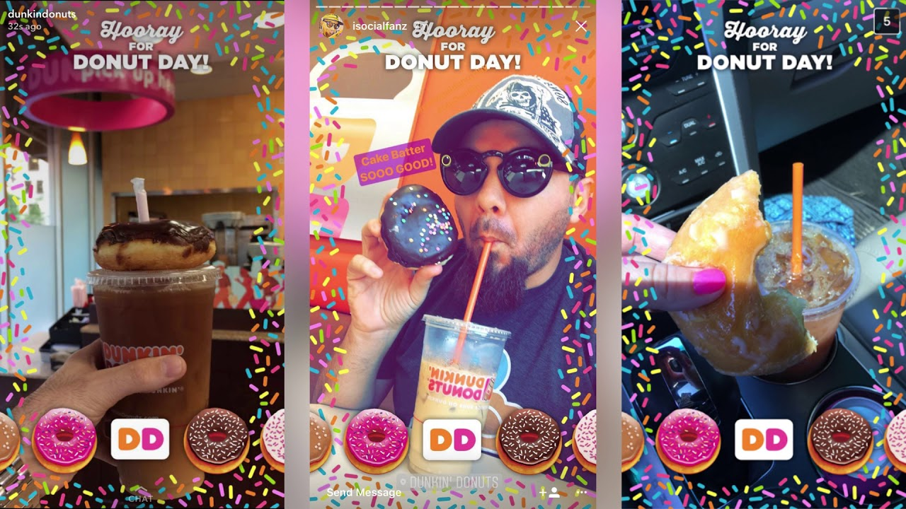 Promoting Dunkin' Donuts with Trilia on Snapchat