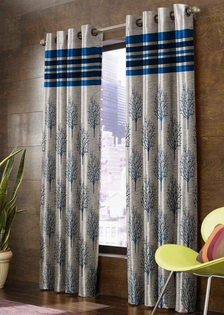 Homefab India Jacquard Blackout Curtains