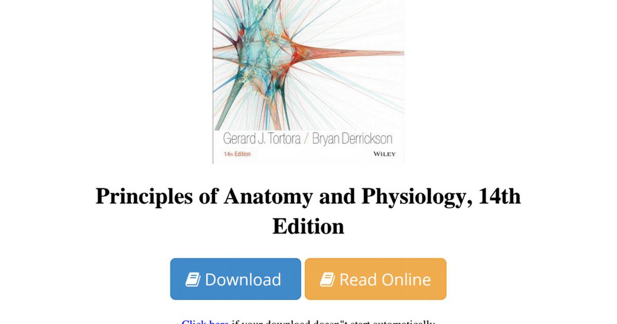 Ausgezeichnet Tortora Anatomy And Physiology Book Free Download ...