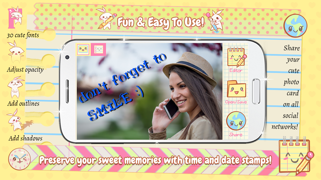 Cute Teks Foto Cembung Apl Android Di Google Play