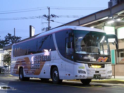 南海バス「サザンクロス」酒田線 ・477 酒田庄交バスターミナルにて