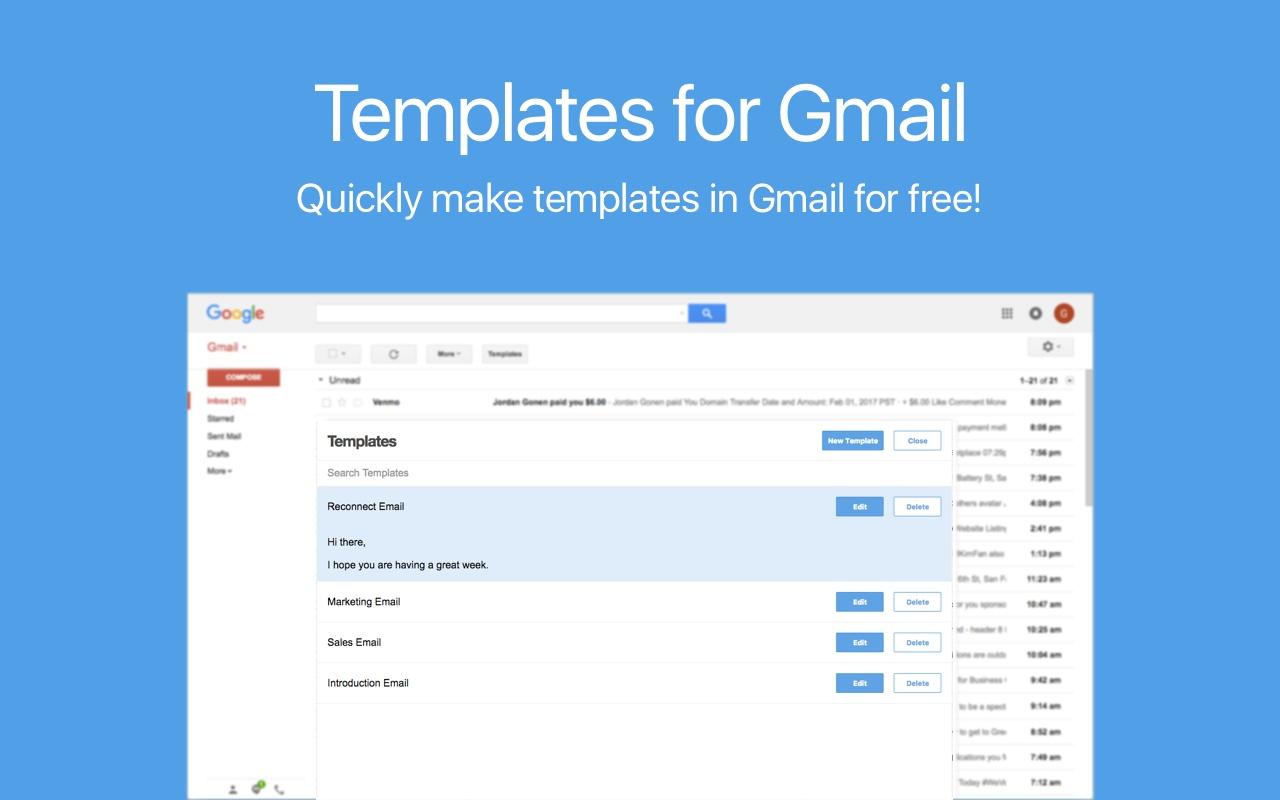 Gmail Templates Screenshot