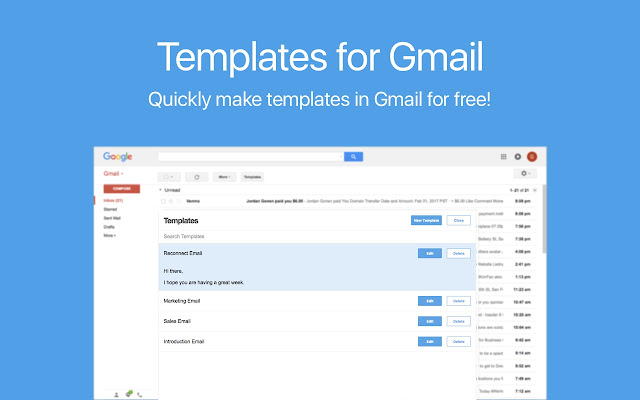 Templates for Gmail Screenshot