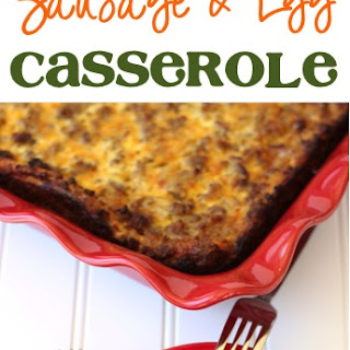 Overnight Breakfast Sausage and Egg Casserole Recipe! Recipe