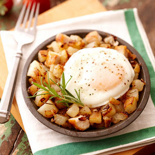 Chicken and Potato Hash with Fried Eggs
