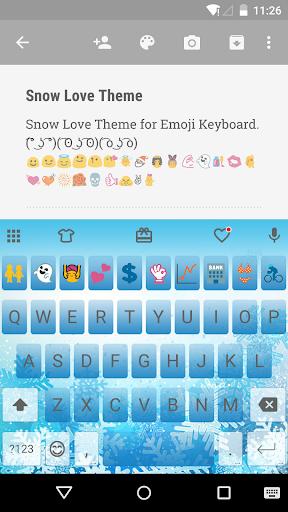 Snow Love Emoji Keyboard Theme