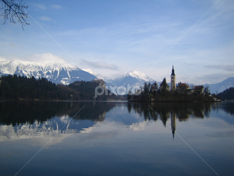 by Jacob Uriel - Landscapes Waterscapes ( mountains, reflection, europe, bled, lake )