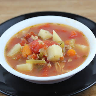 Slow Cooker Manhattan Style Clam Chowder.