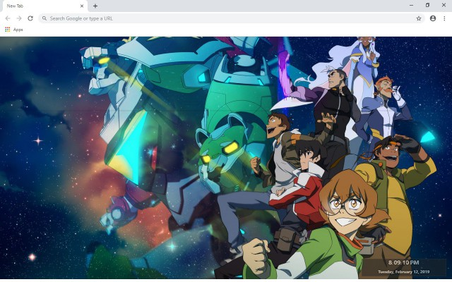 Voltron New Tab & Wallpapers Collection