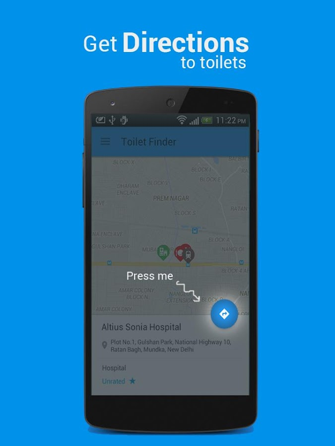 Toilet finder find nearby toilets easily android apps for Best bathroom finder app