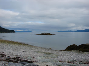 Photo: The view south down Stephens Passage from my campsite on the beach at Point Anmer.