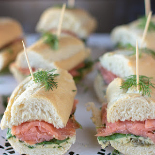 Smoked Salmon Baguette with Dill Butter.