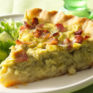 Easy Artichoke Quiche.