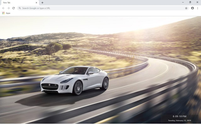 Jaguar F-Type New Tab & Wallpapers Collection