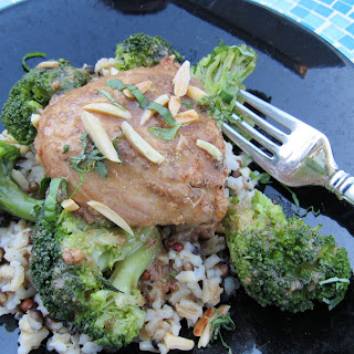 Slow Cooker Thai Chicken With Almond Butter Sauce.
