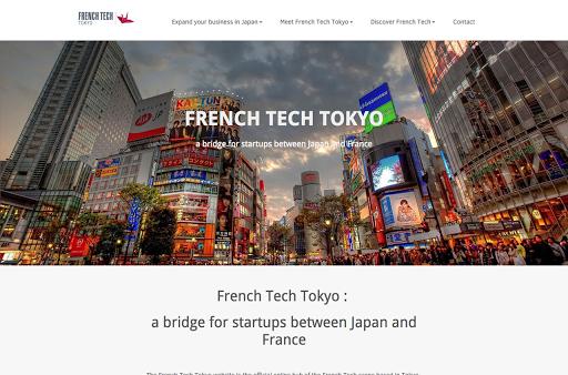 création de site internet réalisé par French Tech Tokyo