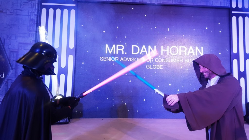 BUT BEFORE THAT, WE SAW DAN HORAN CHANNELING HIS JEDI KNIGHT MOVES AGAINST THE DARK SIDE VILLAIN DARTH VADER