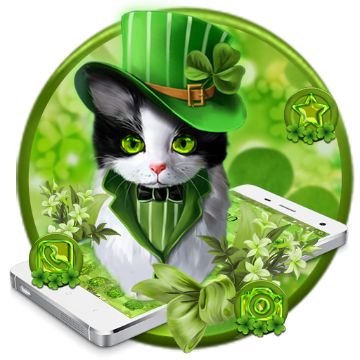 Lucky clover cat theme