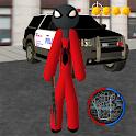 Stickman Spider Rope Hero : Crime City Simulator icon