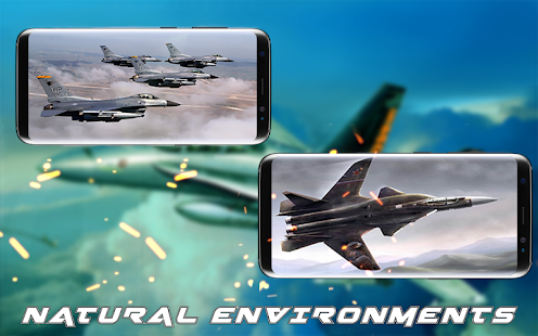 Fly F18 Jet Fighter Airplane Attack 3D Game Free - náhled