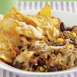 Chili con Carne with Cheesy Nachos
