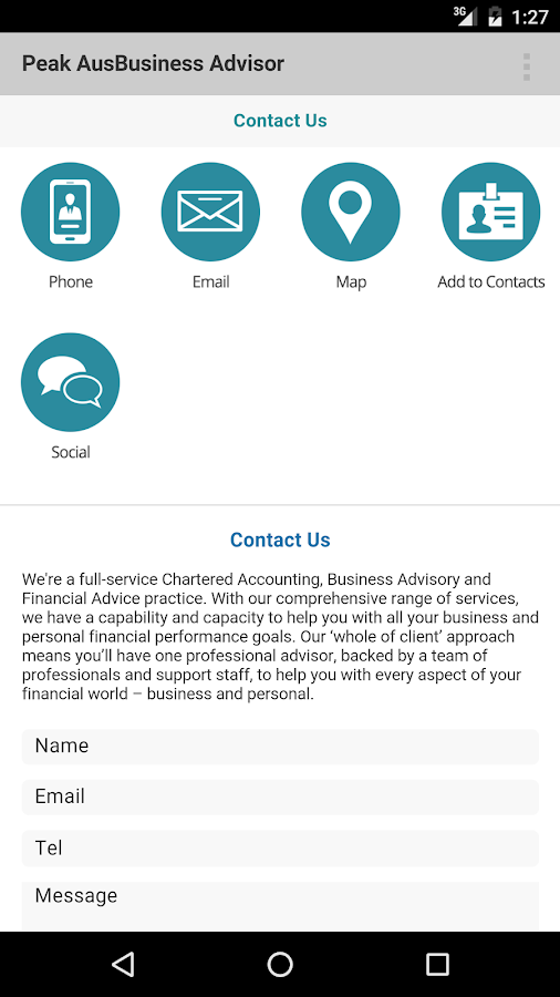 PeakAus Business Advisor- screenshot