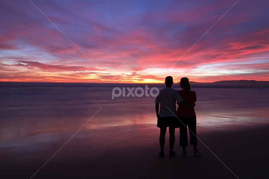 Love by Nuno Martins - Landscapes Sunsets & Sunrises ( beach, sunset, comporta, colours, clouds, people, love )