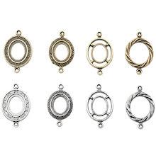 Tim Holtz Assemblage Links 8/Pkg - Ornate Ovals