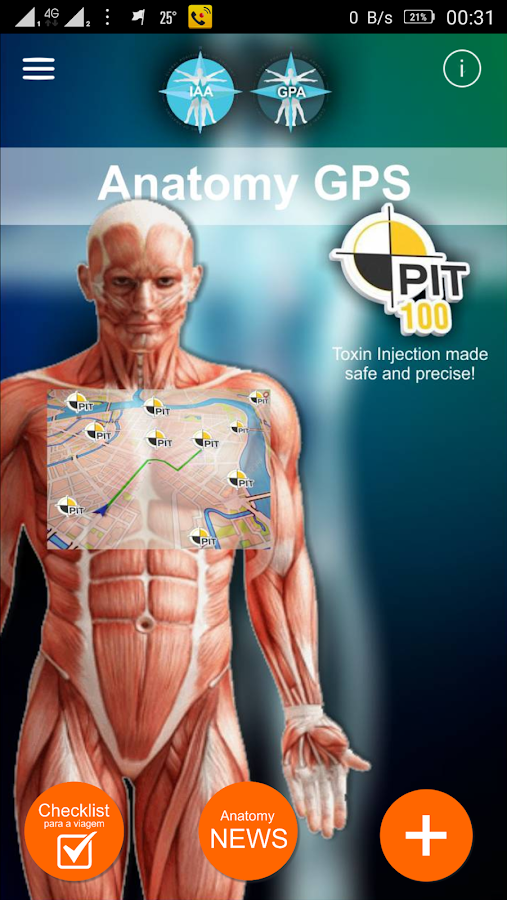 Anatomy GPS- screenshot