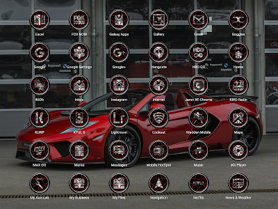 Wheels Red - Icon Pack screenshot 10