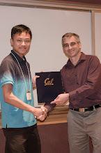 Photo: Raymond Shiau accepting the Jim and Donna Gray Endowment Award.