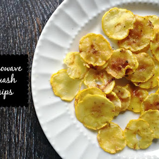 Summer Squash Microwave Chips